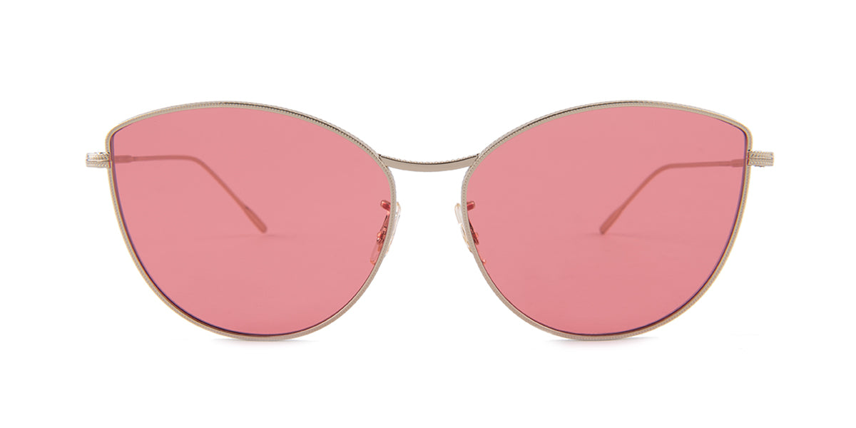 Oliver Peoples Rayette Silver / Pink Lens Sunglasses