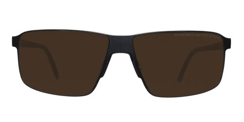 Porsche Design P8646 Black / Brown Lens Sunglasses