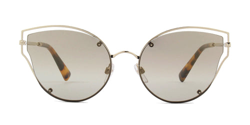 Valentino - VA2015 Gold Cat-Eye Women Sunglasses - 58mm