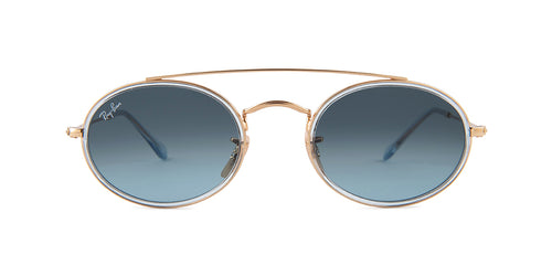 Ray Ban - RB3847N Gold Oval Unisex Sunglasses - 52mm