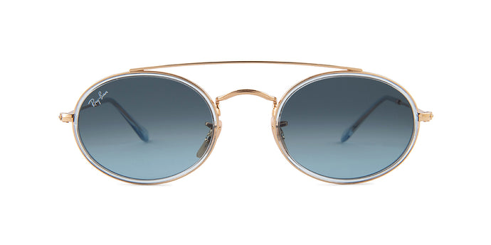 Ray Ban - RB3847N Gold/Blue Gradient Oval Unisex Sunglasses - 52mm