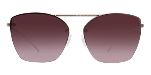 Oliver Peoples Ziane Rose Gold / Red Lens Sunglasses