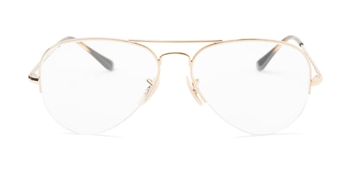 Ray Ban RX6589 Gold / Clear Lens Eyeglasses