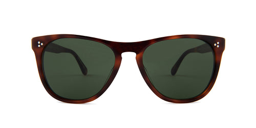 Oliver Peoples Daddy B Havana / Green Lens Sunglasses