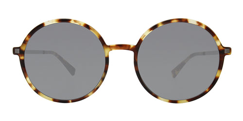 Mykita - Anana Tortoise/Gray Oval Unisex Sunglasses - 54mm