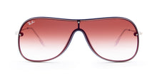 Ray Ban - RB4311-N Blue / Red Shield Women Sunglasses - mm