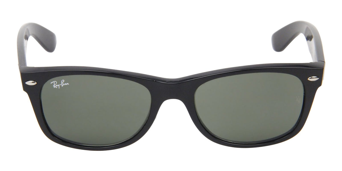 Ray Ban - New Wayfarer Black/Green Unisex Sunglasses - 51mm