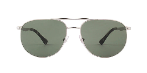 Persol - PO2455-S Silver Aviator Men Sunglasses - 60mm