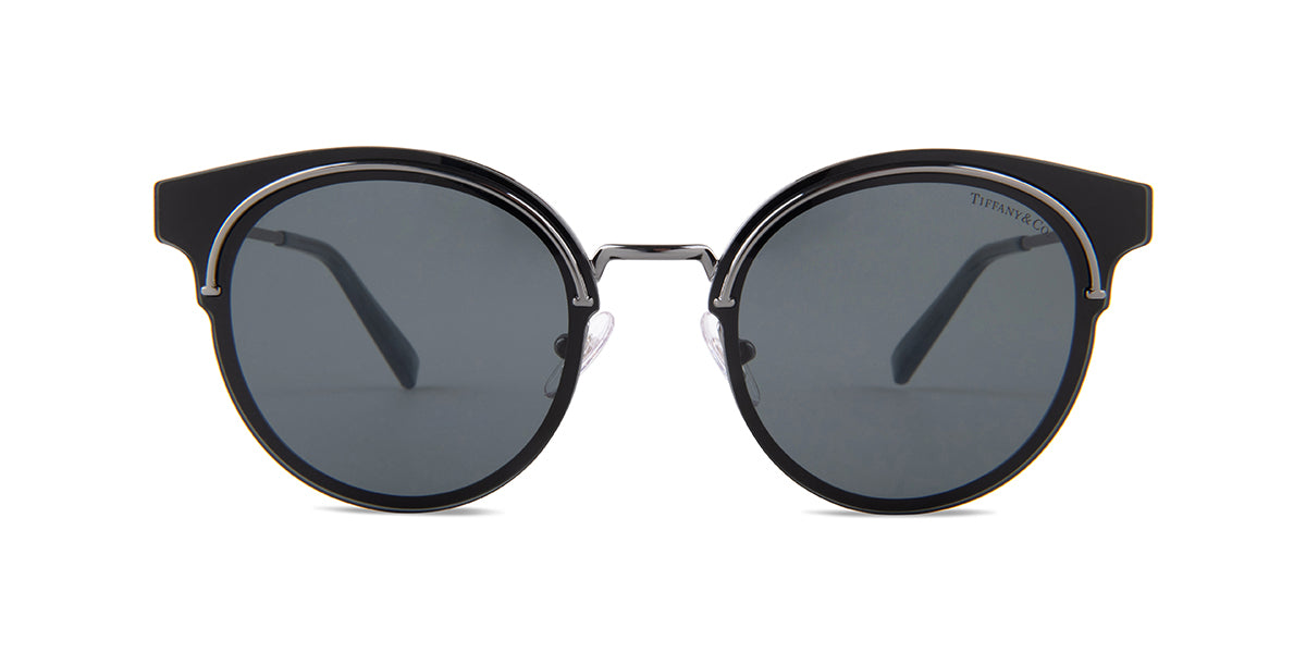 Tiffany - TF3061 Black Round Women Sunglasses - 64mm
