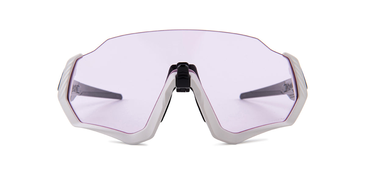 Oakley - Flight Jacket Gray/Pink Wrap Men Sunglasses - 37mm