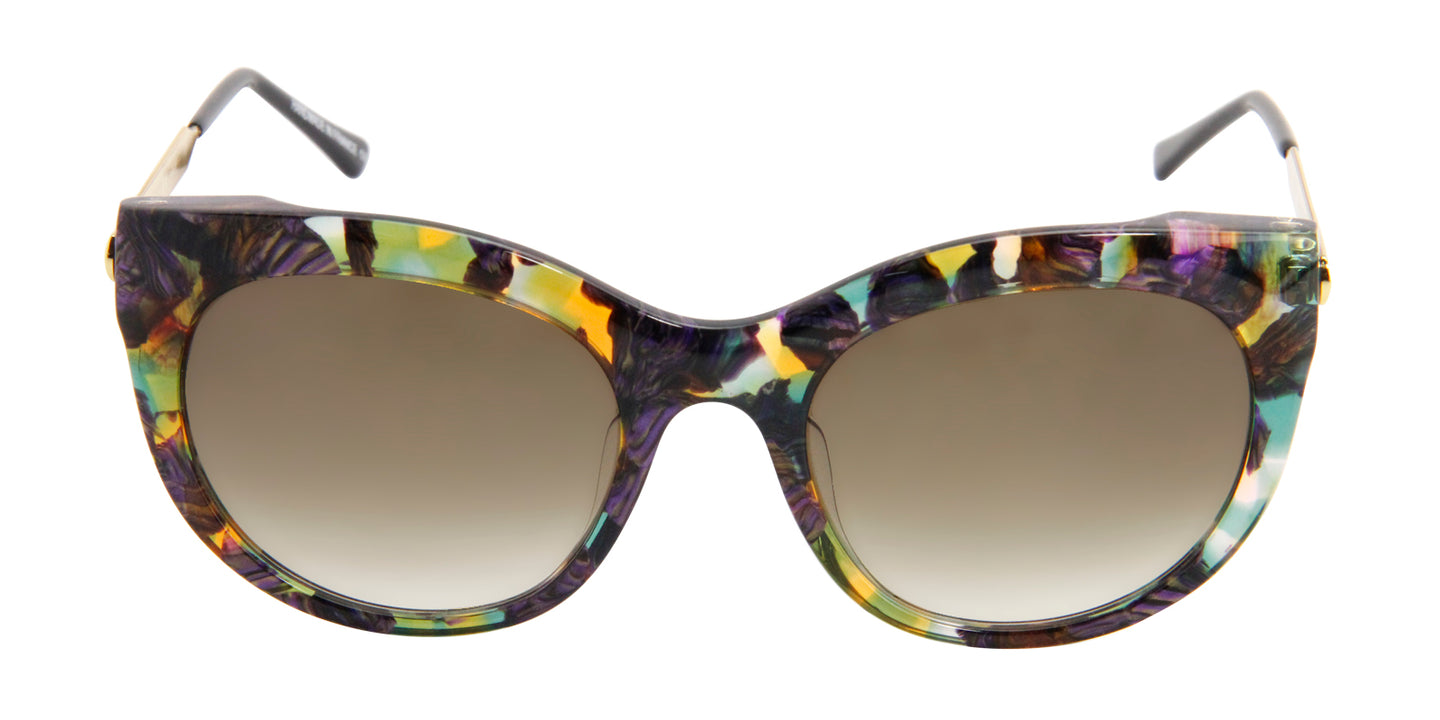 Thierry Lasry - Glitzy Brown Oval Women Sunglasses - 55mm