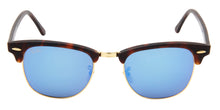 Ray Ban - Clubmaster Tortoise/Blue Mirror Oval Unisex Sunglasses - 51mm