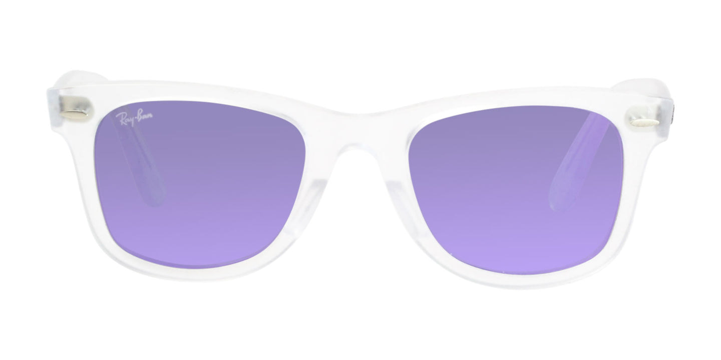 Ray Ban - RB4340 Clear/Purple Mirror Rectangular Unisex Sunglasses - 50mm