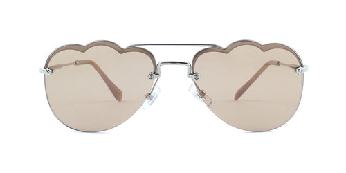 Miu Miu - MU56U Silver Round Women Sunglasses - 58mm
