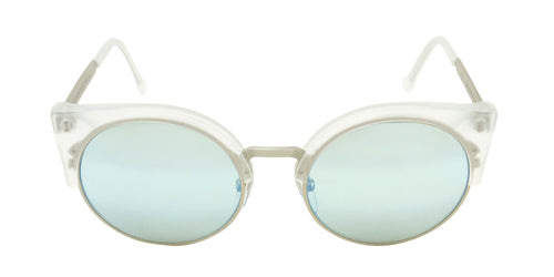 Retrosuperfuture - llaria Silver Oval Women Sunglasses - 53mm