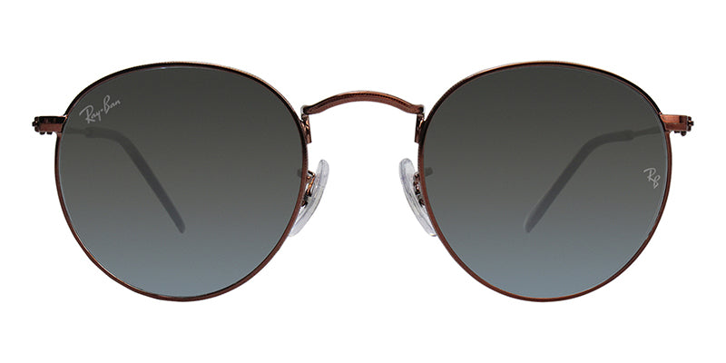 Ray Ban - Round Metal Bronze/Gray Gradient Oval Unisex Sunglasses - 47mm