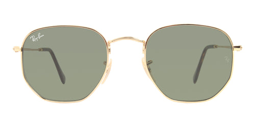 Ray Ban - RB3548N Gold/Green Oval Unisex Sunglasses - 51mm