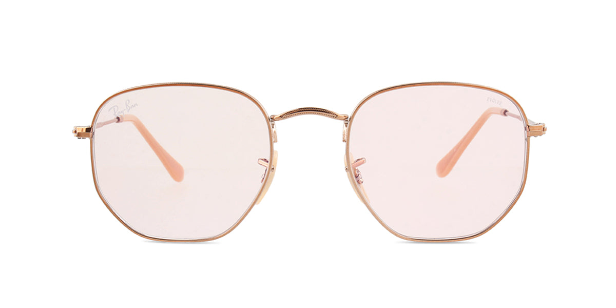Ray Ban - RB3548-N Copper/Pink Square Women Sunglasses - 51mm