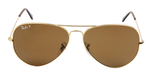 Ray Ban - Aviator Gold/Brown Polarized Unisex Sunglasses - 62mm