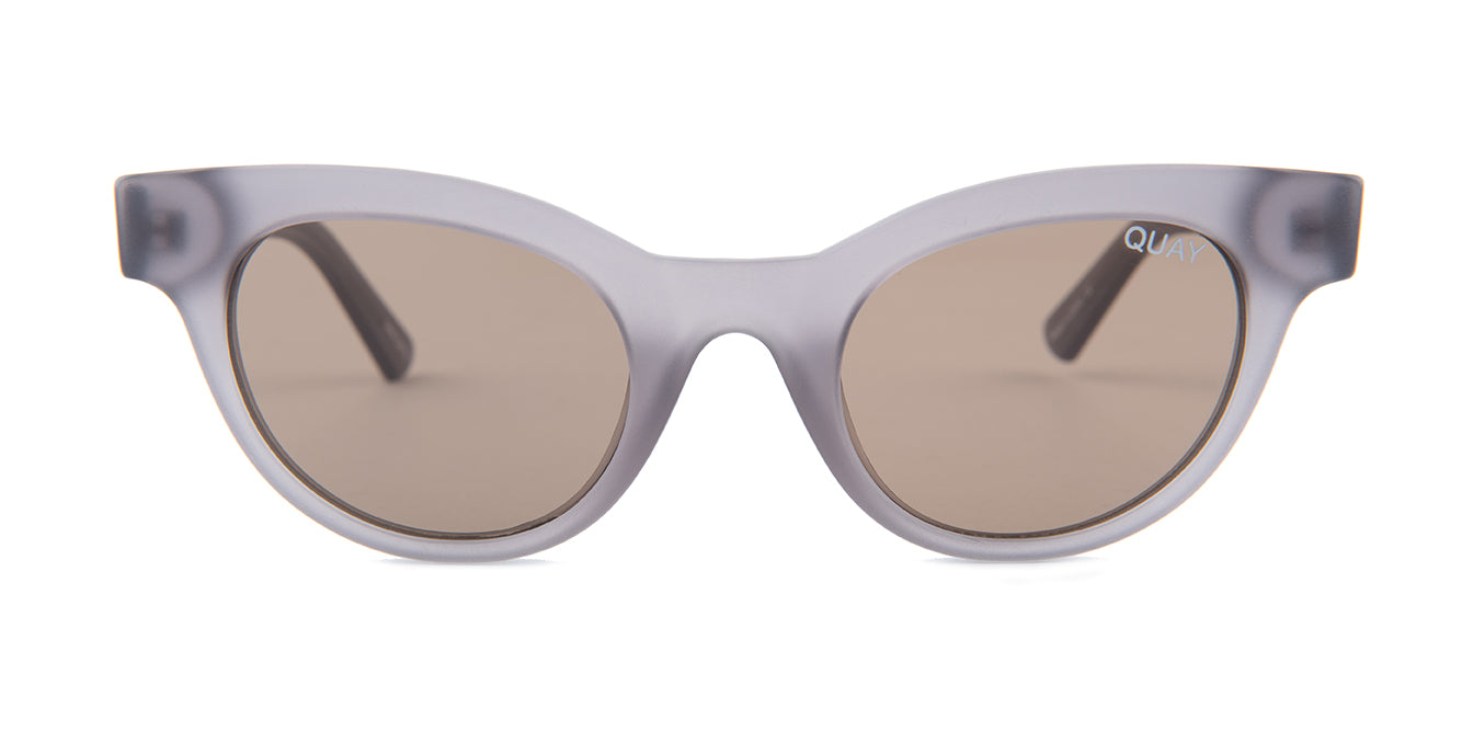 Quay Australia Star Struck Gray / Brown Lens Sunglasses