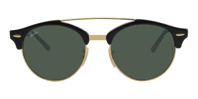 Ray Ban - RB4346 Black/Green Oval Unisex Sunglasses - 51mm