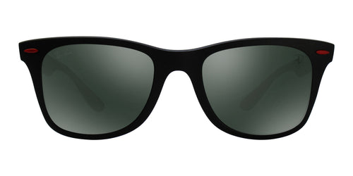 Ray Ban - RB4195M Matte Black Wayfarer Unisex Sunglasses - 52mm
