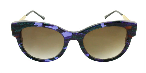 Thierry Lasry - Angely Purple/Green Oval Women Sunglasses - 53mm