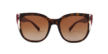 Valentino - VA4040 Havana Square Women Sunglasses - 54mm