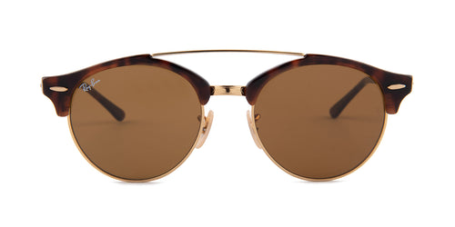 Ray Ban - RB4346 Tortoise/Brown Oval Unisex Sunglasses - 51mm