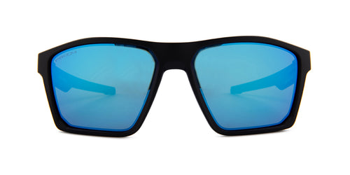 Oakley Targetline Black / Blue Lens Mirror Sunglasses