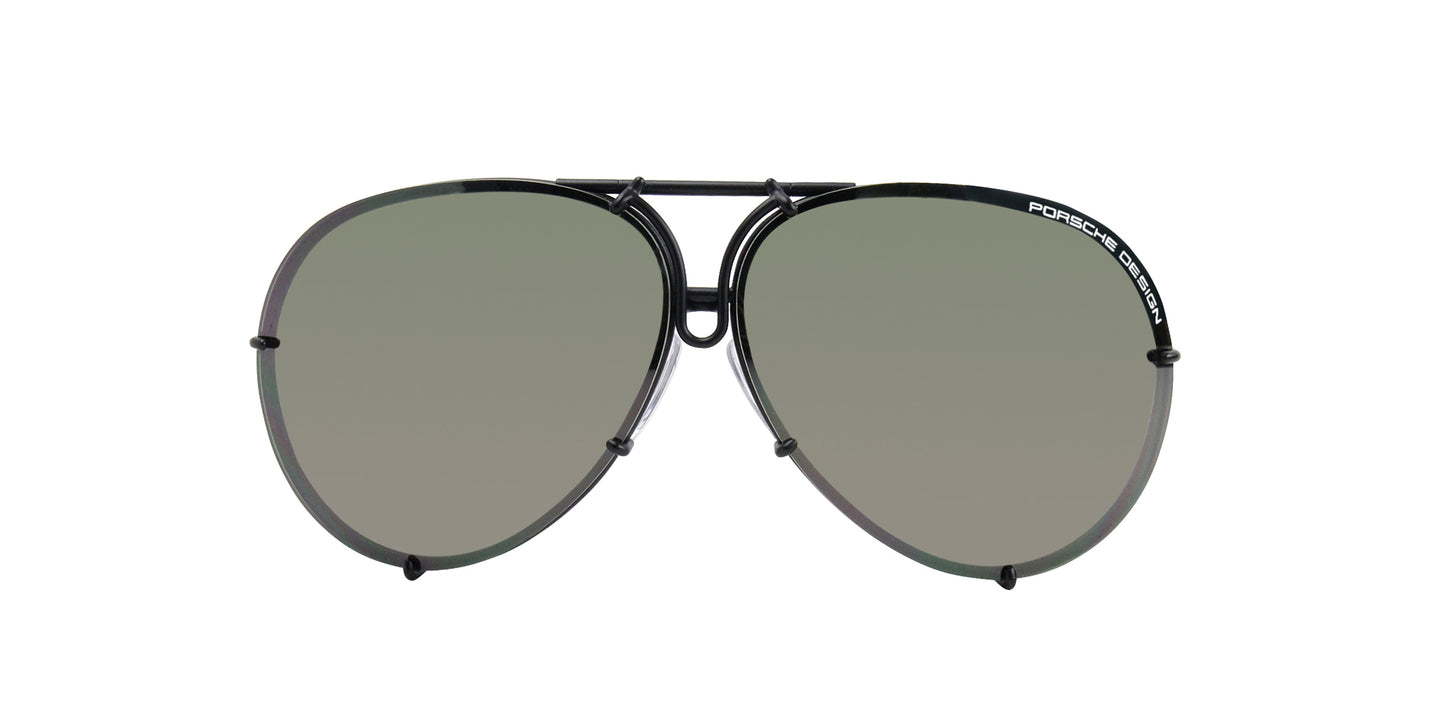 Porsche Design P8478 Black / Green Lens Sunglasses