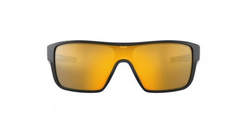 OAKLEY Straightback Black / Gold Lens Mirror Sunglasses