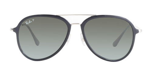 Ray Ban - RB4298 Black Aviator Unisex Sunglasses - 57mm