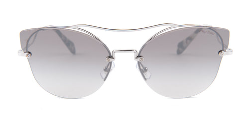 Miu Miu - MU52SS Silver Oval Women Sunglasses - 62mm