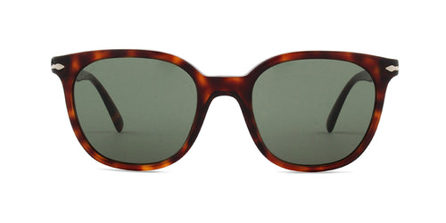 Persol - PO3216-S Havana Square Women Polarized Sunglasses - 51mm
