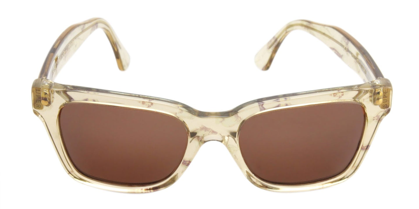 Retrosuperfuture America Yellow / Brown Lens Sunglasses