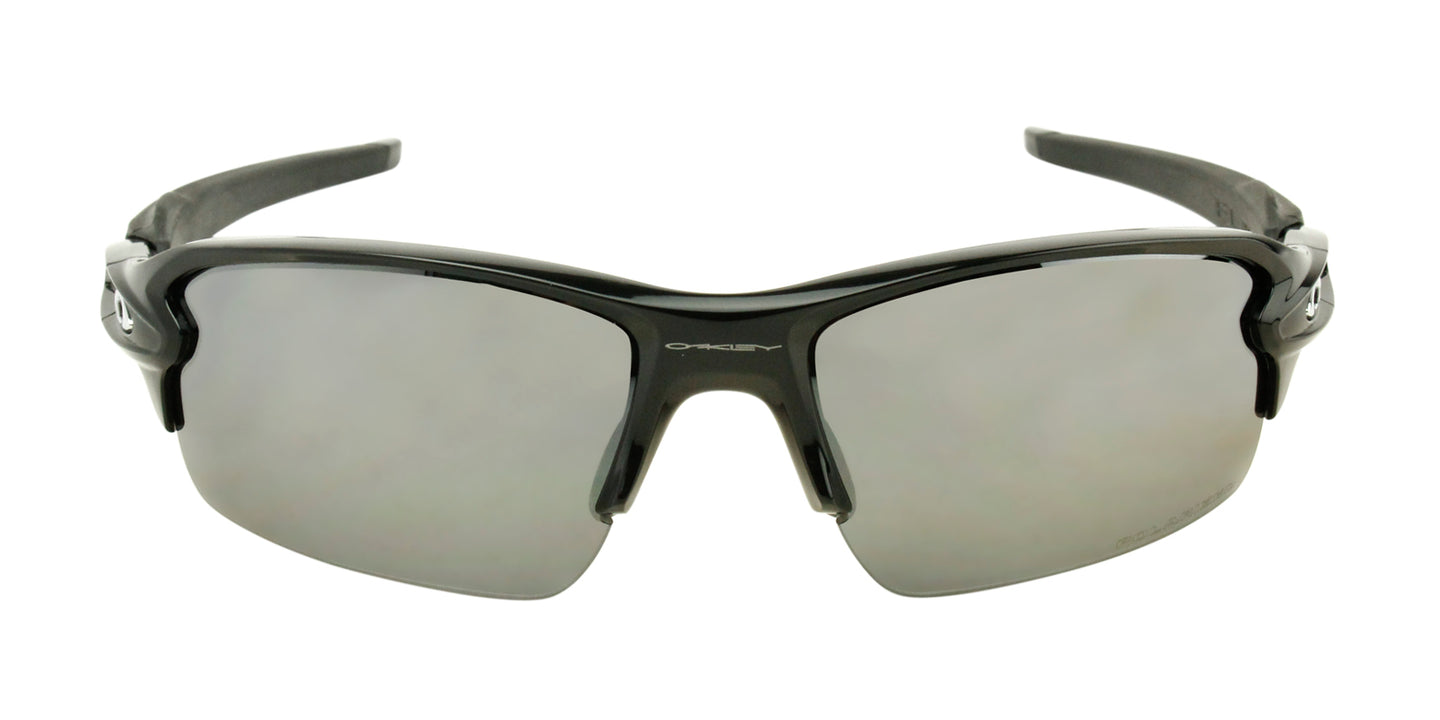 Oakley - Flak 2.0 Black/Gray Semi-Rimless Men Polarized Sunglasses - 59mm