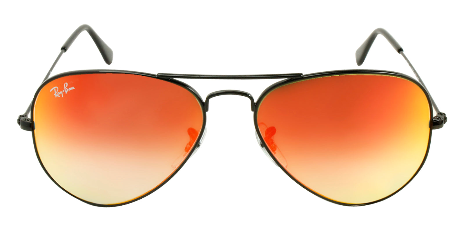 2caaa59147100 Ray-Ban Black Aviator RB 3025 w  Red Mirror Gradient Sunglasses - YES ...