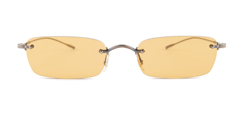 Oliver Peoples Daveigh Antique Gold / Brown Lens Sunglasses