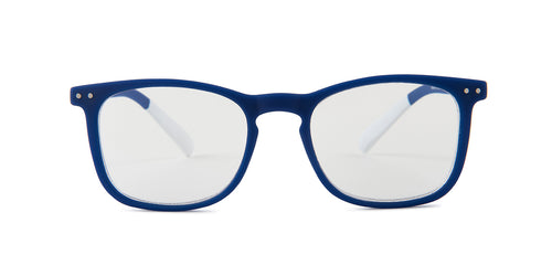 Pantone - N Three Blue Square Unisex Eyeglasses - 51mm