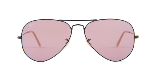 Ray Ban - Aviator Black/Pink Women Sunglasses - 58mm