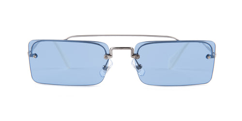 Miu Miu - MU59TS Silver Rectangular Women Sunglasses - 58mm