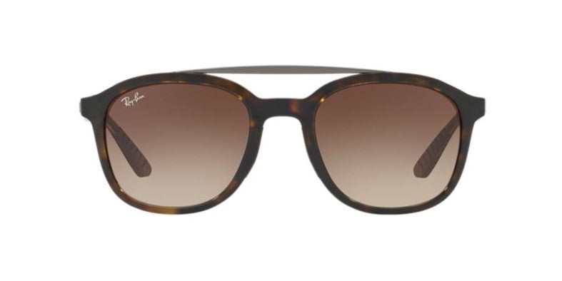 Ray Ban - RB4290 Havana/Brown Gradient Square Men Sunglasses - 53mm