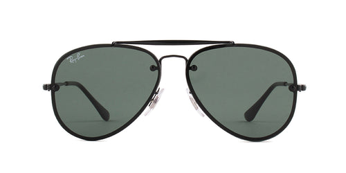 Ray Ban Jr - RJ9548SN Black Aviator Unisex Sunglasses - 54mm