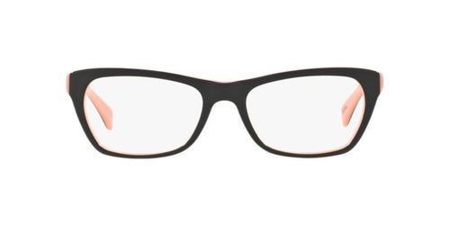 Ray Ban Rx - RX5298 Black / Pink Square Women Eyeglasses - 53mm
