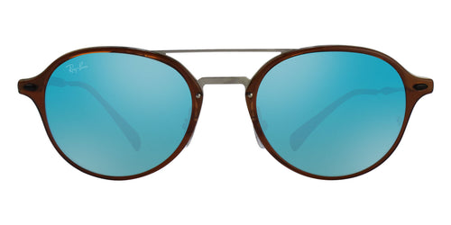 Ray Ban - RB4287 Brown Oval Unisex Sunglasses - 55mm
