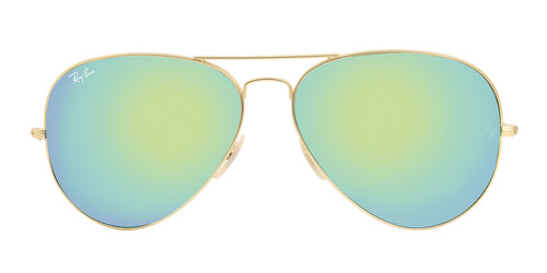Ray Ban - Aviator Gold/Green Mirror Unisex Sunglasses - 62mm