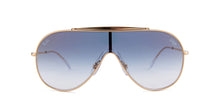 Ray Ban - Wings Gold/Blue  Gradient Wrap Men Sunglasses - 33mm