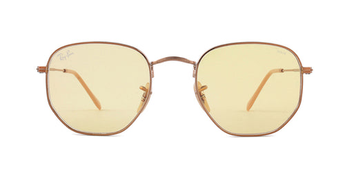 Ray Ban - RB3548N Copper/Yellow Square Women Sunglasses - 51mm