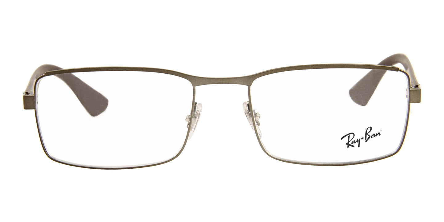 Ray Ban Rx - RX6332 Gray Rectangular Men Eyeglasses - 55mm